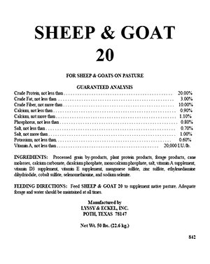 Sheep and Goat 20%